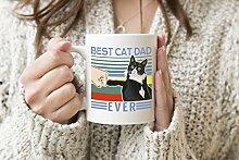 Best Cat Dad Ever Vatertag Weißer Becher Kaffee