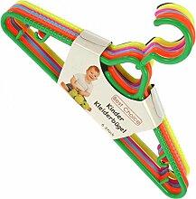 Best Choice 48804 Kleiderbügel 6er Kunststoff Kinderbügel color