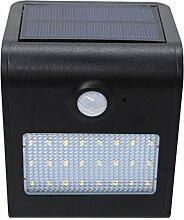 Best Choise 24LED 2.5W wasserdichte LED-Solarlicht-Lampen Garten-Lichter im Freienlandschafts-Rasen-Lampen-Solarwand-Lampen führte Solaire Jardin 5.5V Bewegungs-Sensor führte Birne Satz von 1 Energie sparen ( Color : Black )