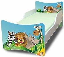 BEST FOR KIDS KINDERBETT OHNE MATRATZE IN 8 GRÖSSEN UND 32 DESIGNS + GRATIS (90x200, Zoo)