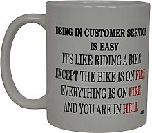 Best Funny Coffee Mug Being In Customer Service Is