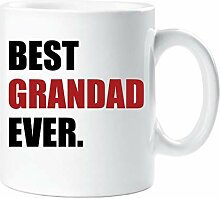 Best Grandad Ever Becher Rot Vatertag Tasse