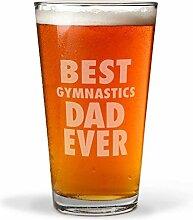 Best Gymnastics Dad Ever Gravur Bierglas für