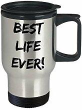 Best Life Ever Edelstahl-Reisetasse JW Geschenk