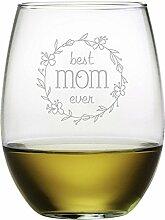 Best Mom Ever, geätztes ohne Stiel