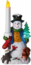 "Best Season LED-Tischdekoration ""Snowman with"