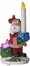 Best Season LED-Tischdekoration Santa with Candle, ca. 24 x 12 cm, batteriebetrieben, Vierfarb-Karton 990-71