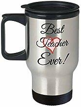 Best Teacher Ever Becher/Tasse für unterwegs, mit