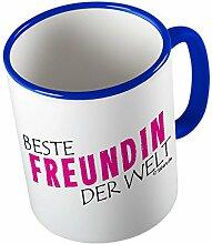 Beste Freundin der Welt ★ lustige Tasse - Kaffeetasse - Kaffee-Pott ★ hochwertig bedruckt mit lustigem Spruch ★ Die perfekte Geschenk-Idee