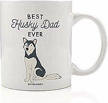 Beste Husky Dad Mug Kaffee Tee Geschenkidee Vater