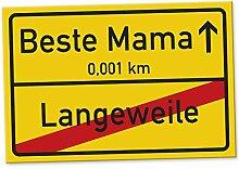 Beste Mama Ortsschild (30 x 20 cm), Schild - Türschild, Geschenkidee Geburtstagsgeschenk Mama, Muttertags-Geschenk für die Mutter, Wanddeko für das Wohnzimmer oder Schlafzimmer, Deko für das Haus