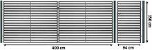 Beste Toranlage KOMFORT LINE 400 x 150 cm, mit