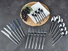 Besteck-Set, 24-teilig aus rostfreiem Edelstahl