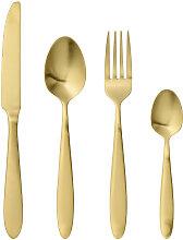Besteck-Set Essbesteck Leoni 4er-Set. goldfarben