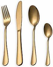 Besteck Set, Gold Besteck Set, Edelstahl Set