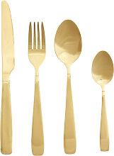 Besteck-Set Hege 16-teilig Metall goldfarben