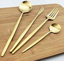 Besteck-Set, Weißgold, matt, 304 Edelstahl,