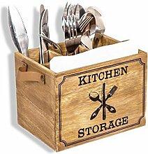 Besteckbox Holz Besteckkorb, Besteckkasten für