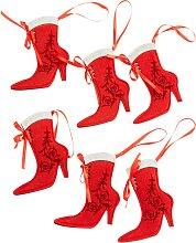 Besteckhalter Stiefel (6er-Pack), rot