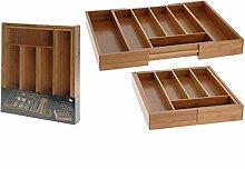 Besteckkasten Ausziehbar Bambus Besteckeinsatz