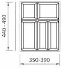 Besteckkasten / Besteckeinsatz LINEA für 45er