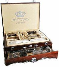 Besteckkoffer, 84-teilig Holzverpackung mit einer