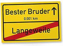 Bester Bruder Ortsschild (30 x 20 cm), Schild -