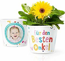 Bester Onkel Geschenk - Blumentopf (ø16cm) |