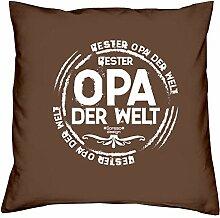 Bester Opa der Welt :: Geschenk-Set : Kissen inkl.