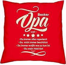 Bester Opa weil :: Geschenk-Set : Kissen inkl.