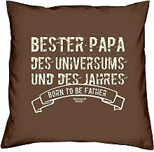 Bester Papa des Universums :: Geschenk-Set: Kissen