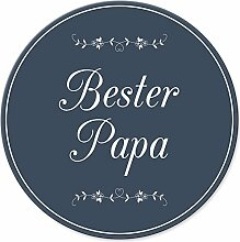 Bester Papa Schild (20 x 20 cm) - Türschild, Geschenkidee Geburtstagsgeschenk Vater, Vatertags-Geschenk für den Papa, Wanddeko für das Büro, Bürozimmer oder Schlafzimmer, Deko für das Haus