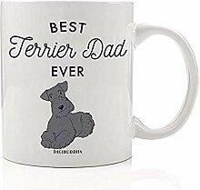Bester Terrier-Vater überhaupt Kaffee-Tee-Becher
