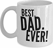 Bester Vater aller Zeiten Kaffeetasse Weiß &