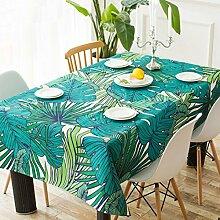 Bester Wert Grüne Pflanze Blatt Tischdecke Handbemalt Leinen Geschirr Quadratisch Tisch Kaffee Seite mehrere Tuch Sofa Handtuch Handtuch Einzelne Tischdecke (Optionale Größe) Für jeden Tisch ( größe : 110*110CM )