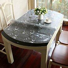 Bester Wert Teleskop-faltbare ovale Tischdecke Transparente PVC-weiche Glas Tischdecke Wasserdichte Tischdecke Kristallplatte wasserdichte Ölwäsche Tischdecke (8 Farben optional) (Größe optional) Für jeden Tisch ( Farbe : A , größe : 85*135CM )