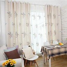"""Bestickte Bettwäsche Baumwolle Farbe Stoff Vorhänge Fenster , Bush , bestickte Tuch 50W x 110""""""""L"""