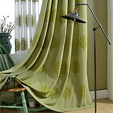 """Bestickte Bettwäsche Baumwolle Farbe Stoff Vorhänge Fenster , Bäume aus Garnen , 50W x 96""""""""L"""