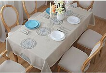 Bestickte Tischdecke Stoff Baumwolle Leinen
