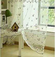 Bestickter Vorhang,Schmetterling