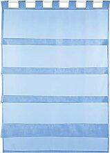 Bestlivings Blaue Bistrogardine Transparent mit