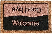 Bestlivings Fussmatte Kokosfaser Fußabtreter Schmutzfangmatte Türmatte Bodenmatte Läufer Teppich Türvorleger Abtreter 3 Designs Farbe Welcome