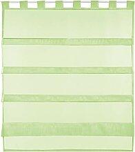 Bestlivings grüne Bistrogardine Transparent mit
