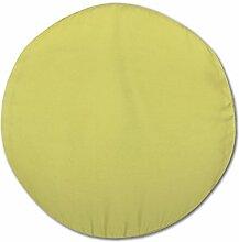 Bestlivings Kissenhülle mit und ohne Füllung in über 100 vers. Größen und Farben, Kissenbezug Dekokissen, Serie: Ellen, Auswahl: 60cm rund mit Füllung grün - apfelgrün