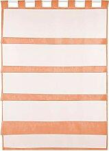 Bestlivings orange Bistrogardine Transparent mit
