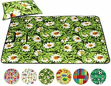 Bestlivings Picknickdecke Fotodruck, Auswahl: Größe - 300x200 cm - inkl. Kissen Design - Daisy, Reiseunterlage Campingdecke Stranddecke