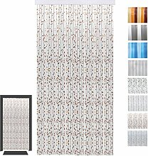 Bestlivings Türvorhang Fadenvorhang PVC, Auswahl: Glitzer kupfer 100 x 220 cm