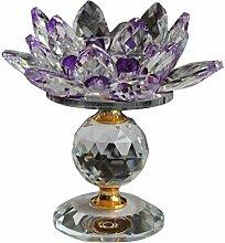 Bestlymood Glasblock Lotus Flower Metall