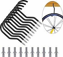 BESTOMZ 10 Stück Fahrradhaken Fahrrad Aufbewahrungshaken Deckenhalter Werkzeug Lagerung Bike