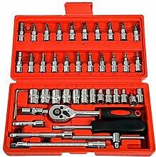 BESTOMZ 46 Stück Auto Reparatur Werkzeug Inkl.